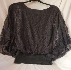 Gracia Black Lace Blouse
